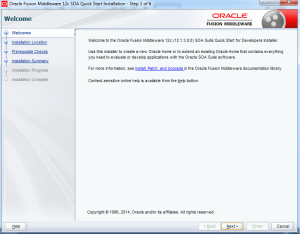 SOA Suite 12c Installation-Step 1