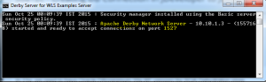 Java DB Status and Port