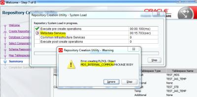 RCU Error SOA 12.2.1