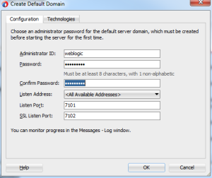 Default Domain Configuration