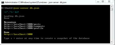 Start Json Server