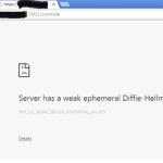 WebLogic : Server has a weak ephemeral Diffie-Hellman public key