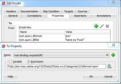 Configure URI Property